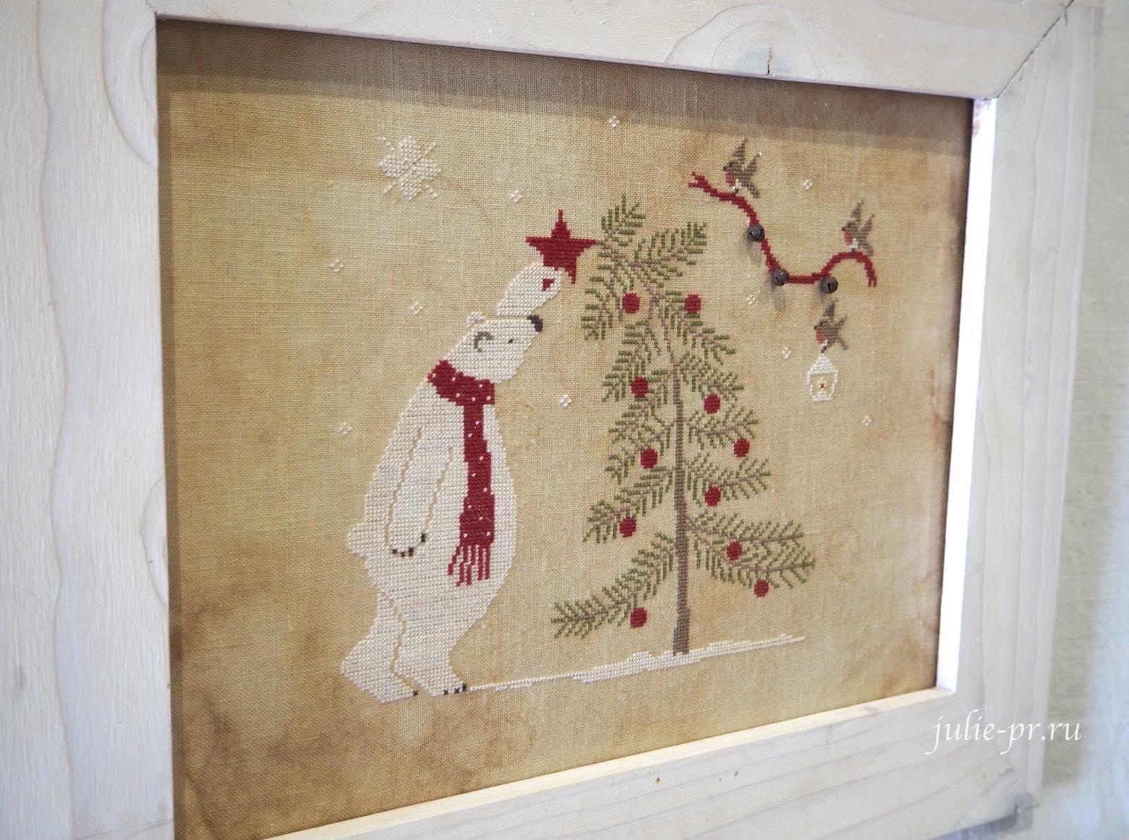 Madame Chantilly, The bear and the Tree, Медведь и елка, вышивка крестом