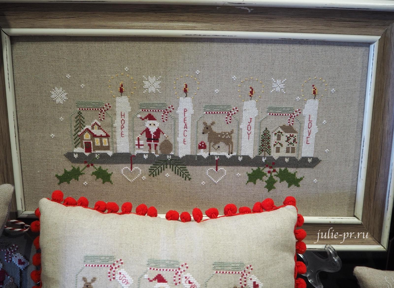 Madame Chantilly, Advent Sunday, вышивка крестом, баночки