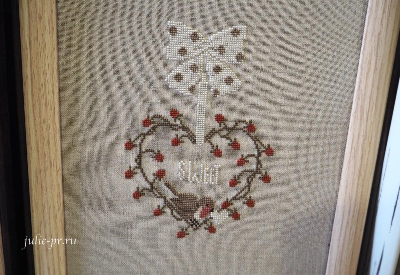 Madame Chantilly, Hearts of berries, Ягодные сердца, вышивка крестом