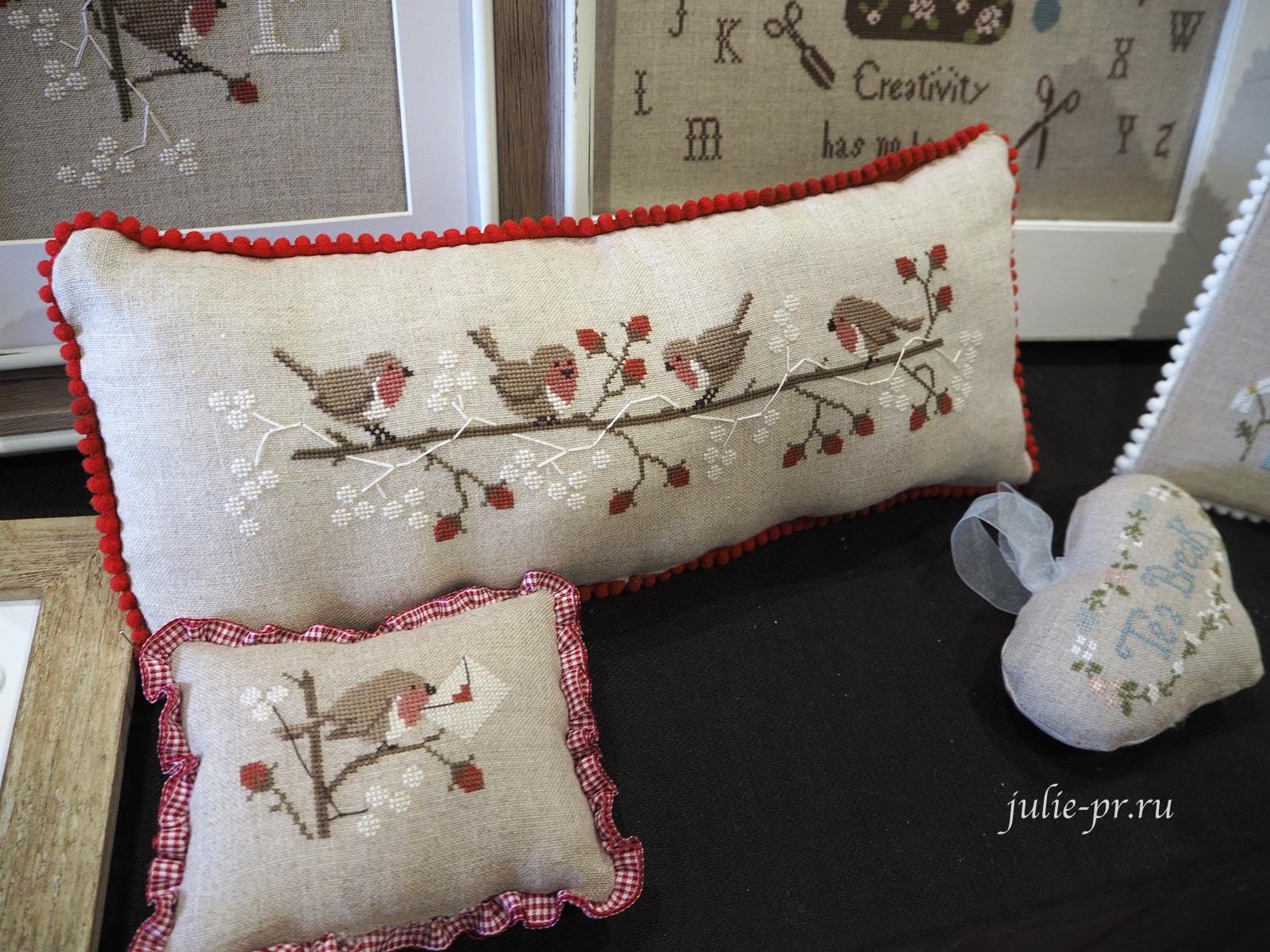 Madame Chantilly, Berries and robins, Ягоды и малиновки, вышивка крестом