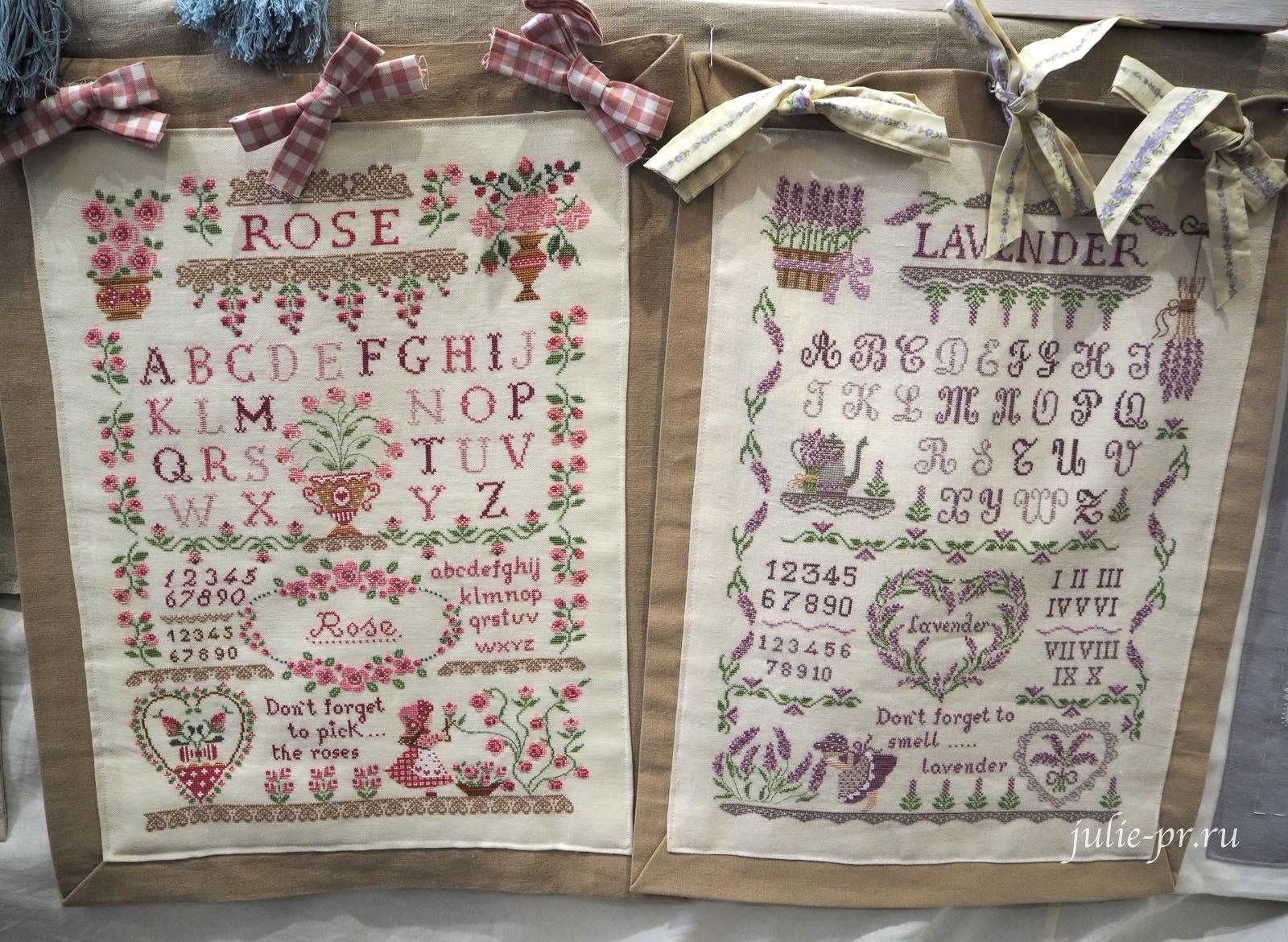 Cuore e batticuore, Rose Sampler, Lavender Sampler, Лавандовый семплер, розовый семплер, вышивка крестом