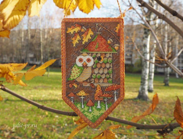 Осенняя сова. Охудожнике Debbie Mumm