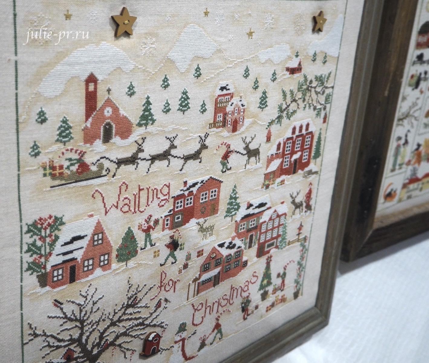 Sara Guermani, Waiting for Christmas, В ожидании Рождества, вышивка крестом