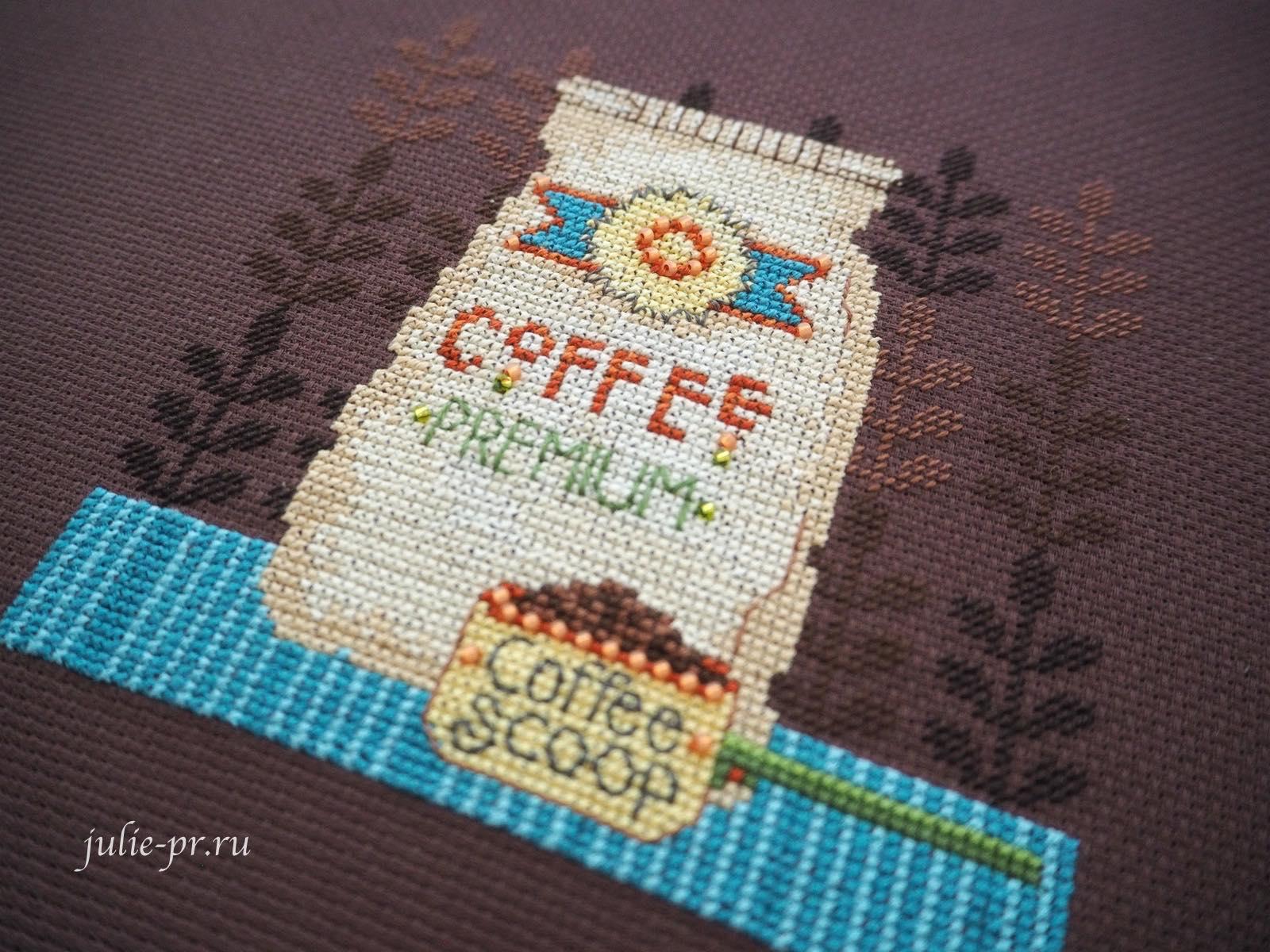 Mill Hill DM30-1614, Coffee Grounds, Кофейная гуща, вышивка крестом, мешочек кофе, вышивка бисером