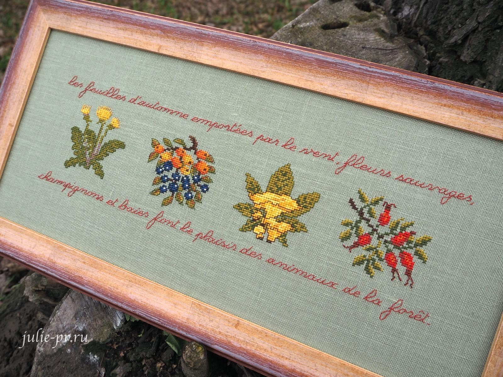Вышивка крестом, Frise d'automne, осенний фриз Le bonheur des dames, Дамское счастье