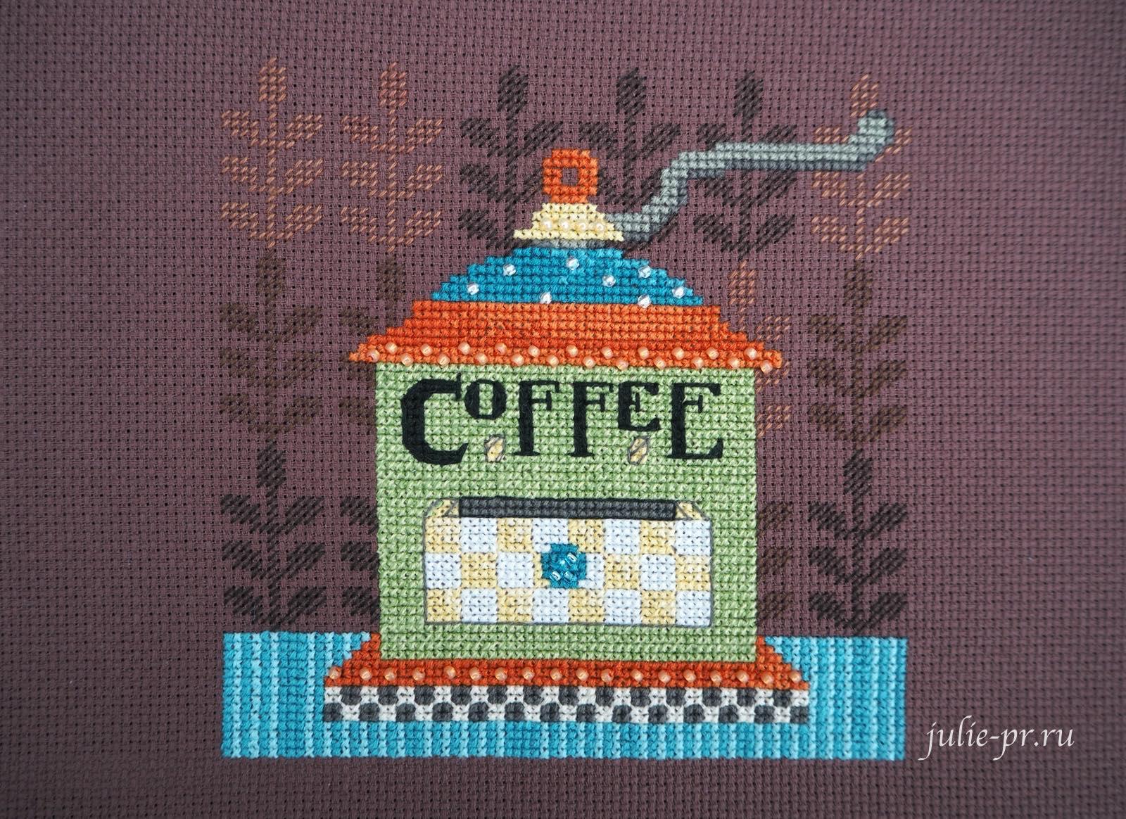 Mill Hill DM30-1612, Coffee Grinder, Кофемолка, вышивка крестом, вышивка бисером, кофе