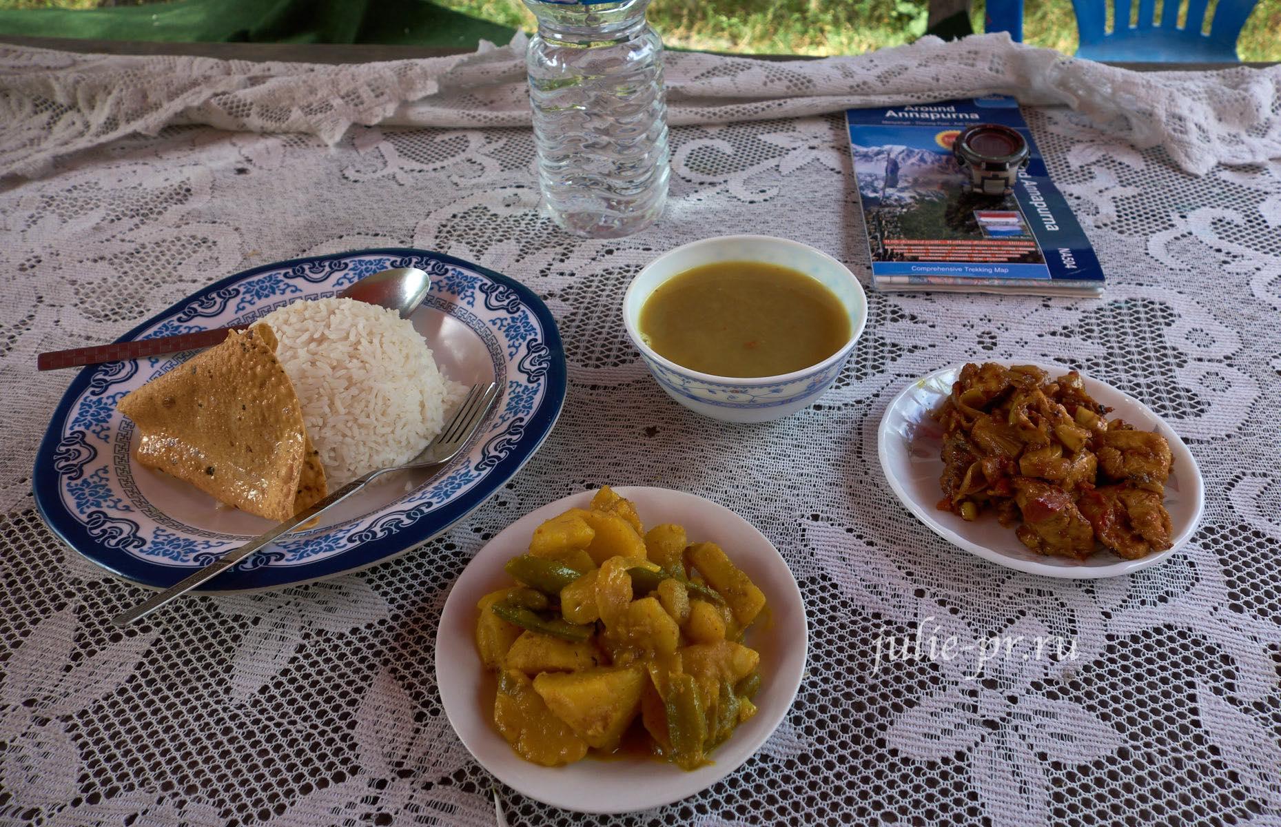 Непал, Трек вокруг Аннапурны, еда
