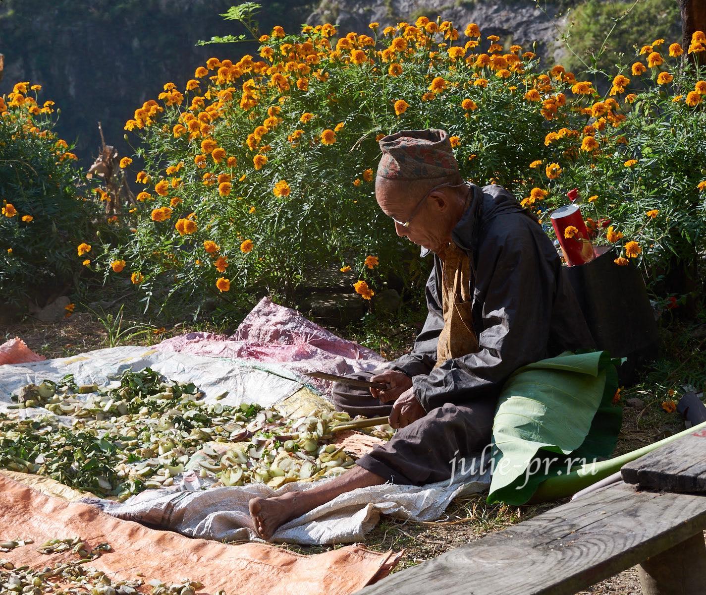 Непал, Трек вокруг Аннапурны, люди