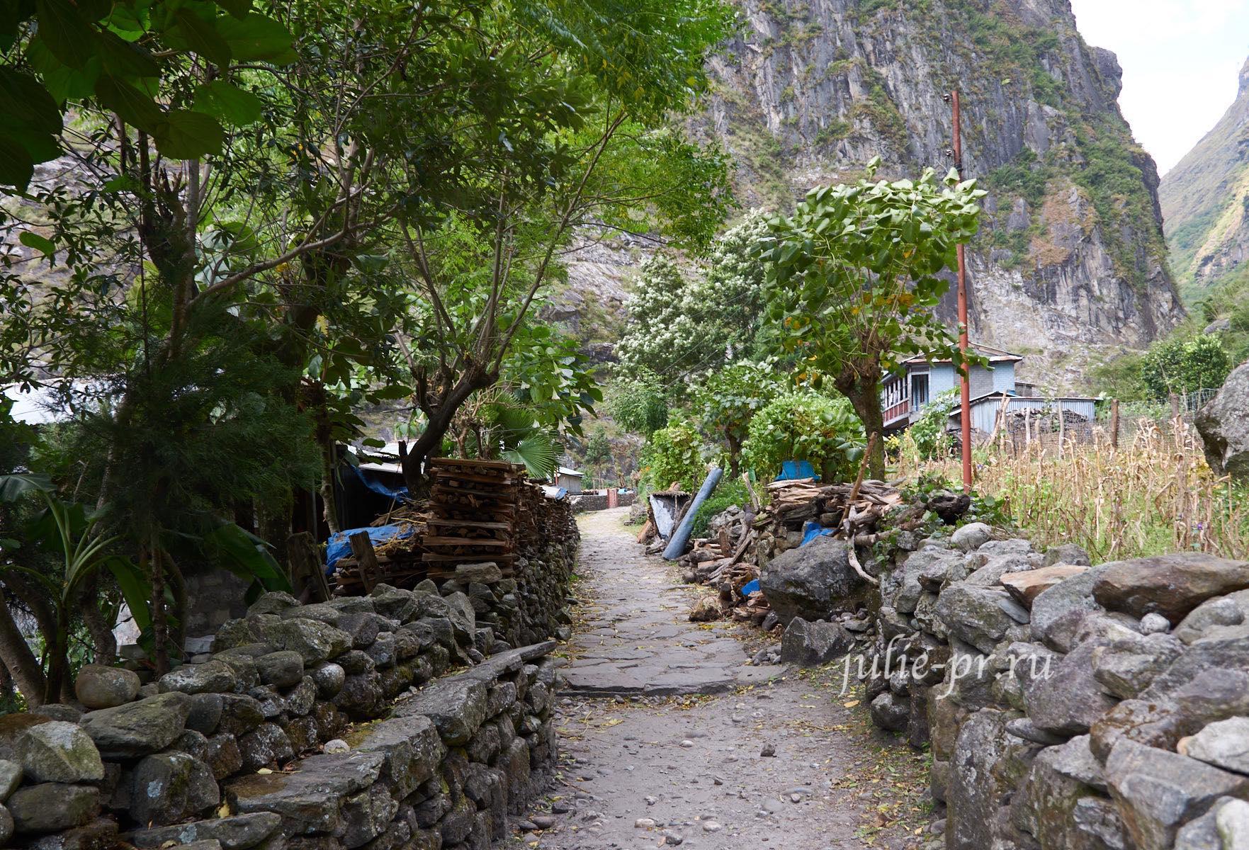 Непал, Трек вокруг Аннапурны, деревня Сиран-Тал