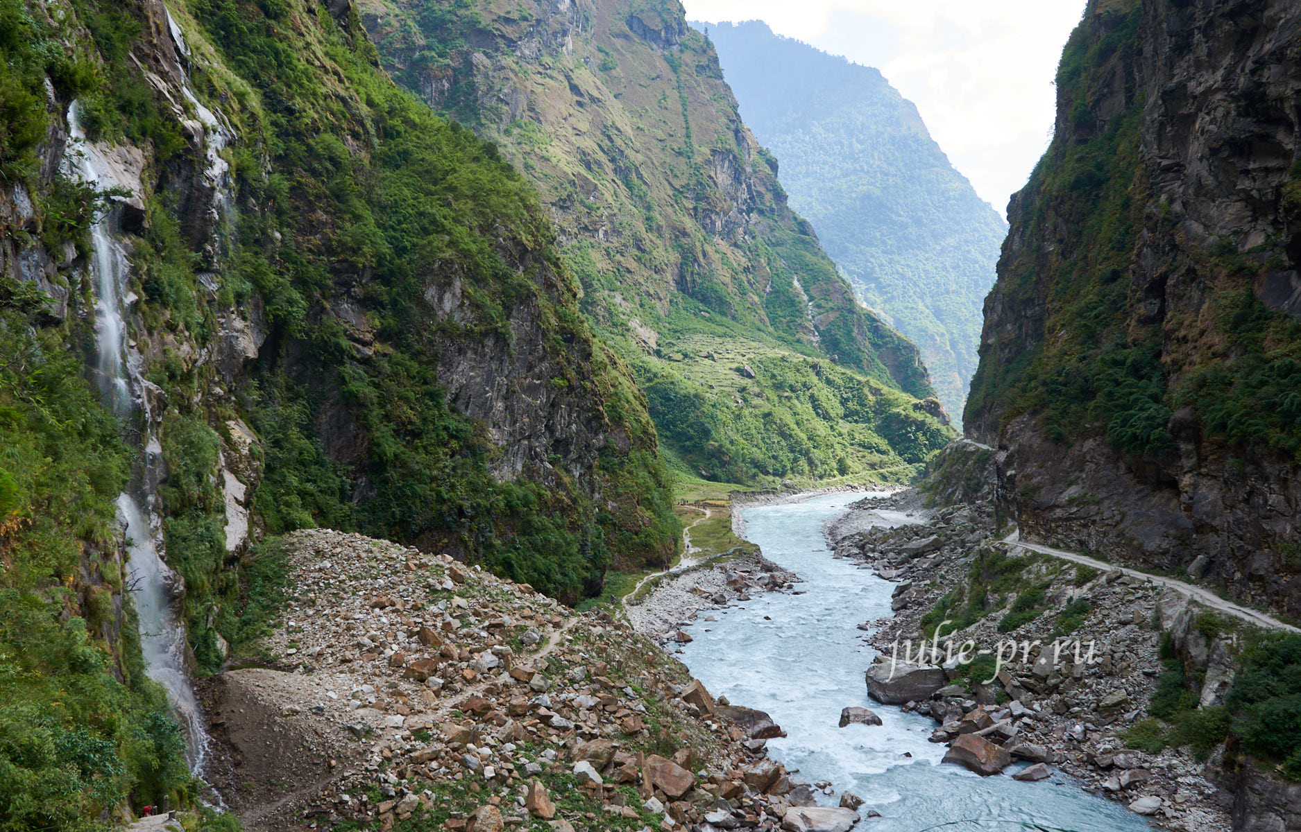 Непал, Трек вокруг Аннапурны, Ущелье реки Марсъянди