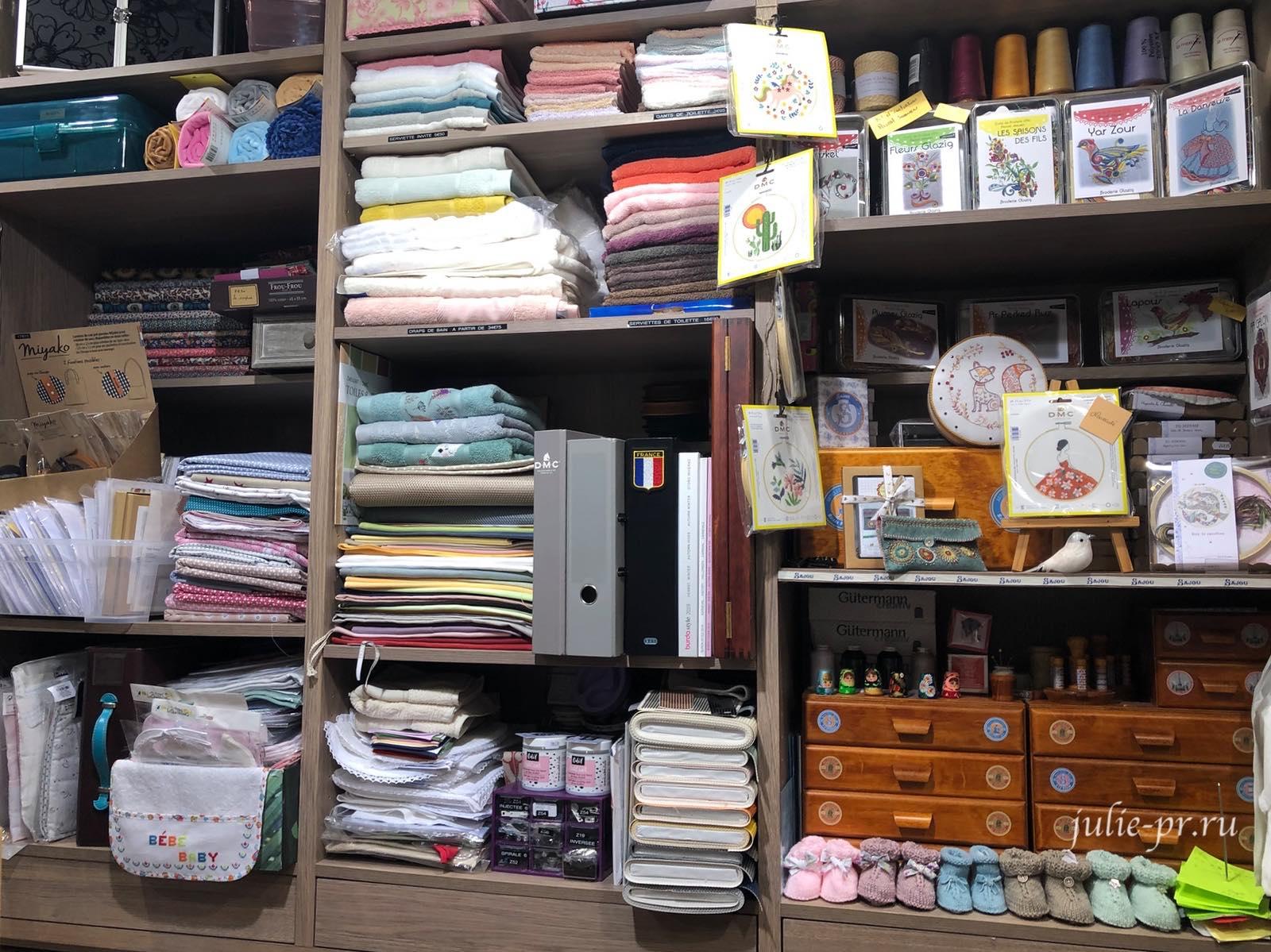 Магазин рукоделия Etamine, Динан, Франция, Бретань, магазин вышивки