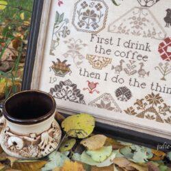 Оформленный кофейный квакер