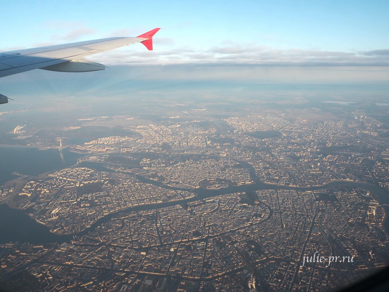 Санкт-Петербург вид с самолета