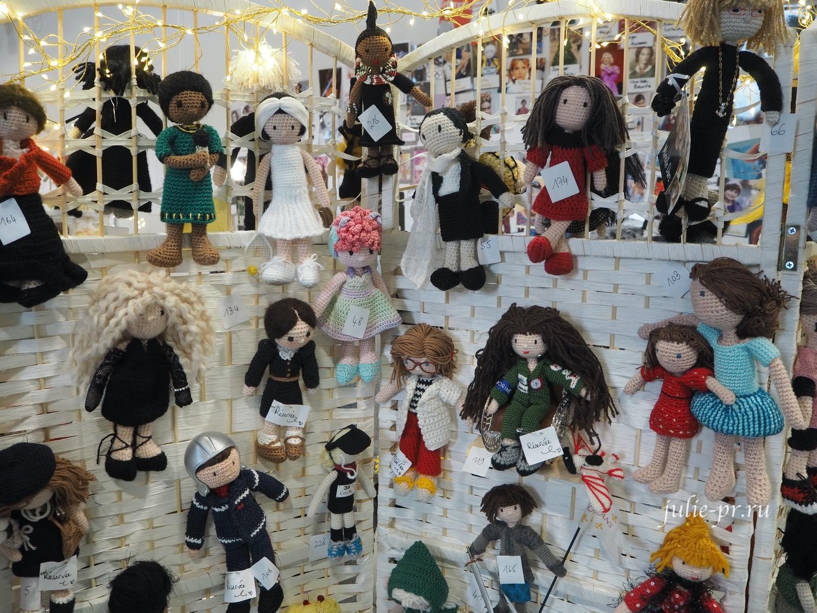 рукодельный салон Creations & Savoir-Faire 2019, рукодельная выставка, Париж, вязаные куклы