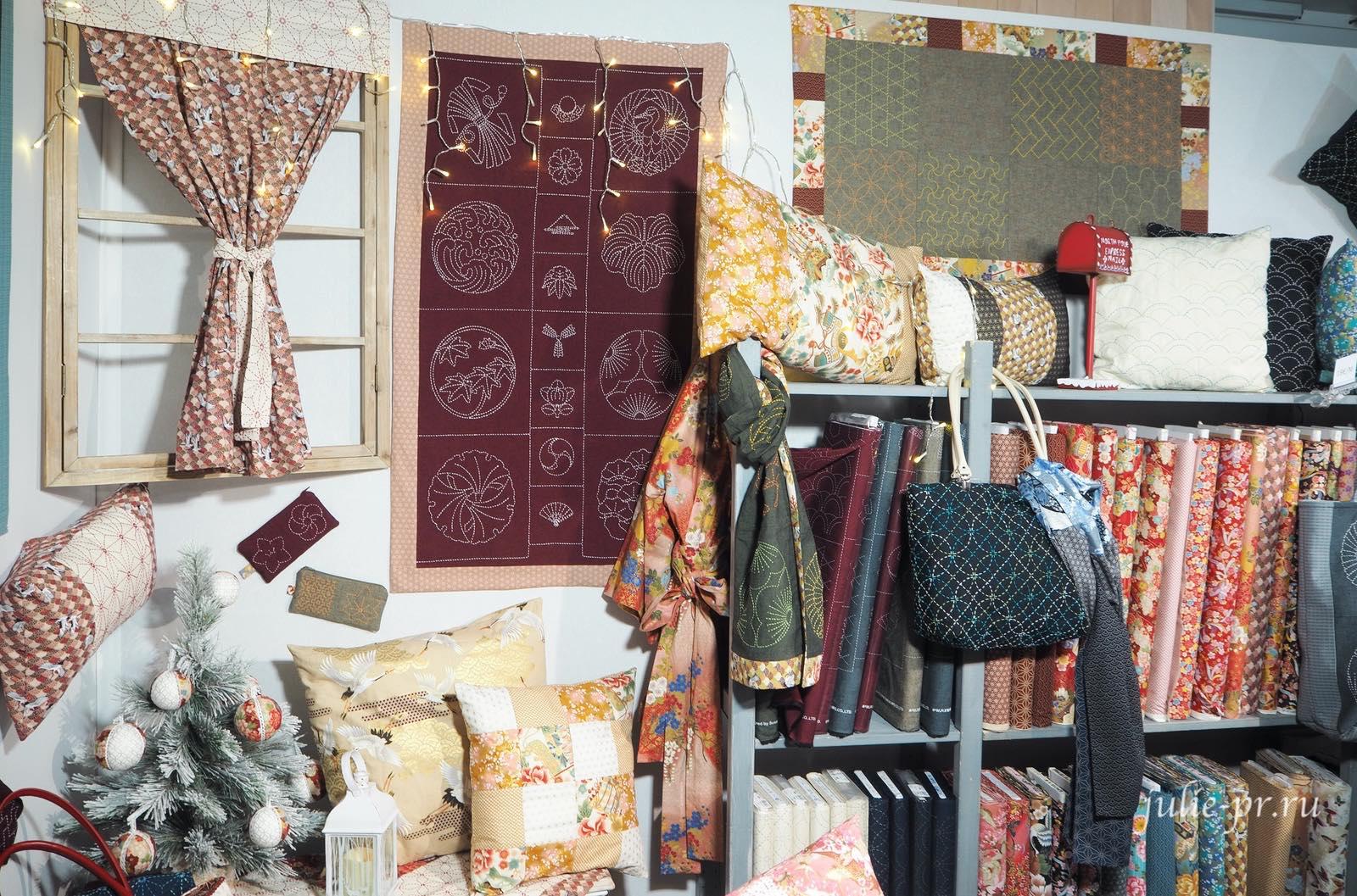 Ткани для пэчворка, вышивка сашико, рукодельный салон Creations & Savoir-Faire 2019, рукодельная выставка, Париж