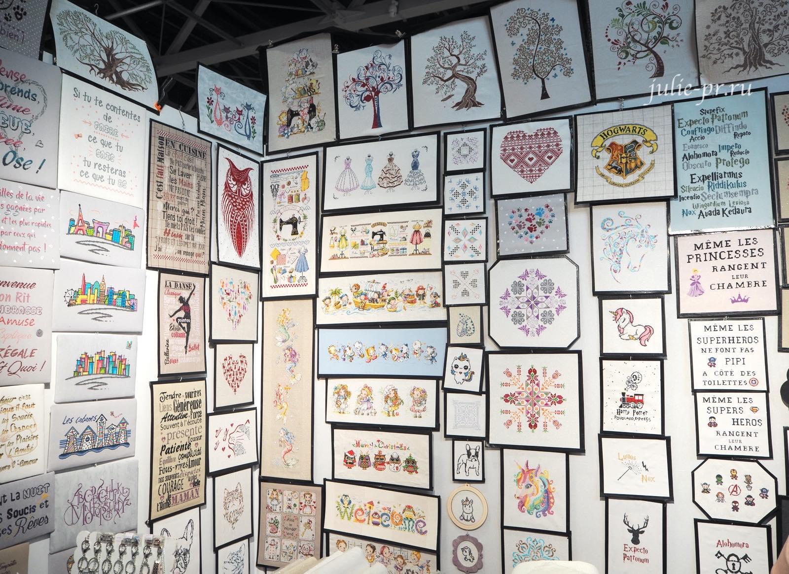 Вышивка крестом, рукодельный салон Creations & Savoir-Faire 2019, рукодельная выставка, Париж