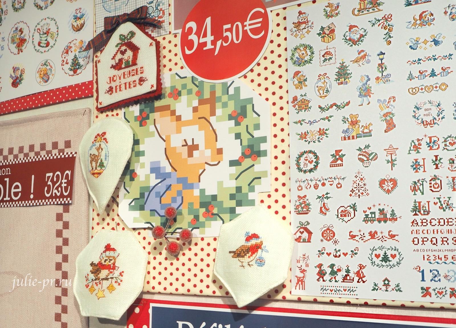 Большая история рождественских мини-мотивов, La grande histoire des mini-motifs de Noel, вышивка крестом, Les brodeuses parisiennes, Veronique Enginger, Парижские вышивальщицы