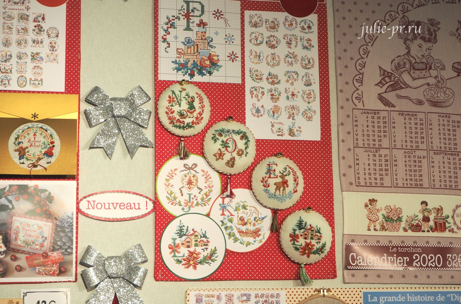 Большой рождественский алфавит, Le grand ABC de Noel, вышивка крестом, Les brodeuses parisiennes, Veronique Enginger, Парижские вышивальщицы