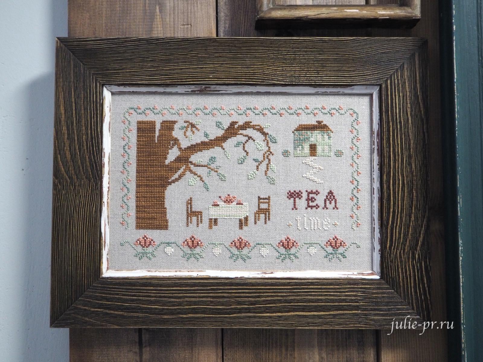 вышивка крестом, примитивы, The Bluebird Needleworks, Чаепитие в саду, tea time