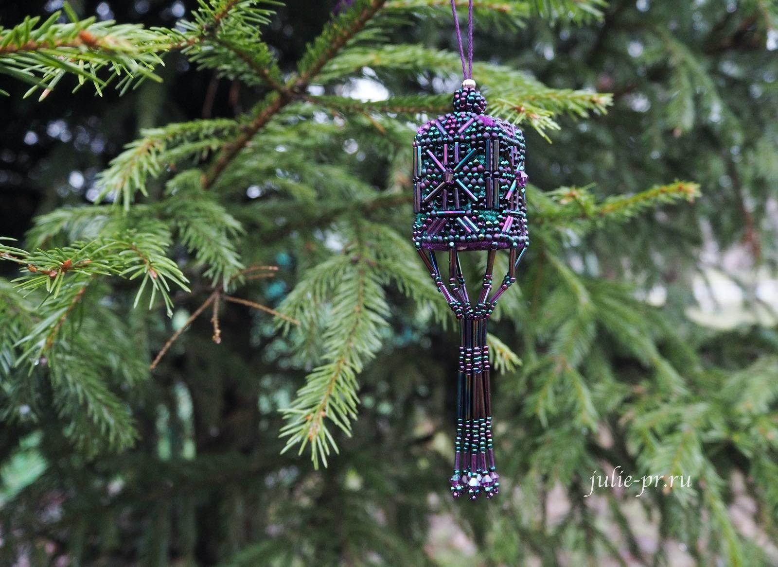 Фонарик Mill Hill MHBT4 — Rainbow Teal Tassel, вышивка крестом, вышивка бисером, елочная игрушка