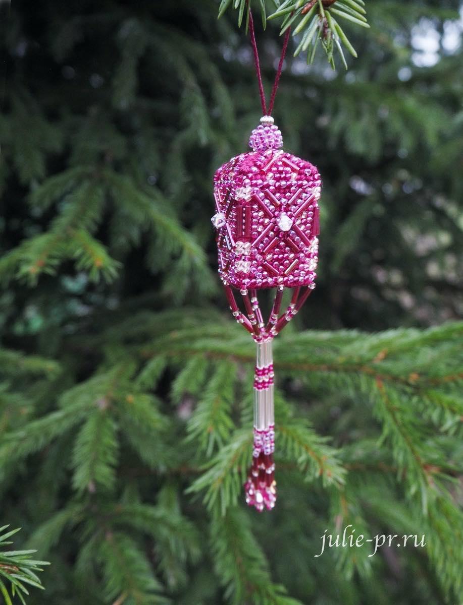 Фонарик Mill Hill MHBT1 — Plum Tassel, вышивка крестом, вышивка бисером, елочная игрушка