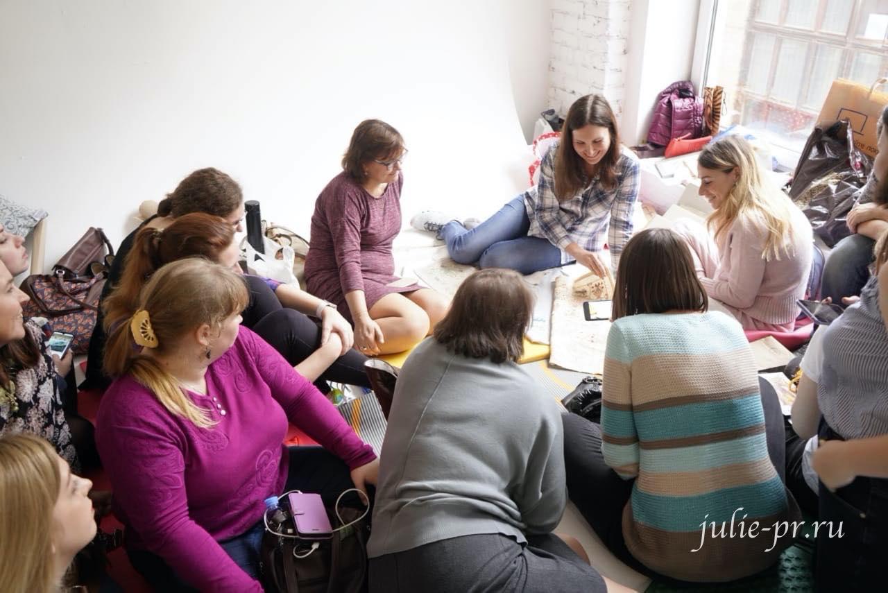 Вышивальный фестиваль в Санкт-Петербурге, Юлия Лапутина, Французская вышивка