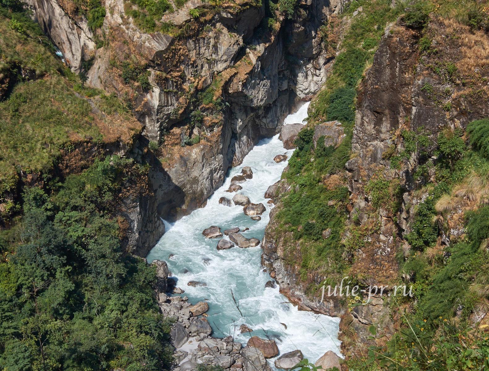 Непал, Трек вокруг Аннапурны, река Марсъянди