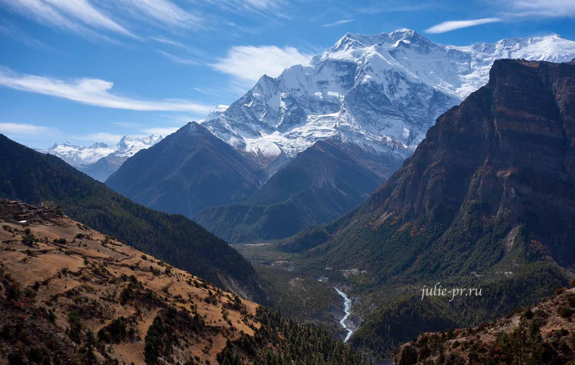 Непал, Трек вокруг Аннапурны, Аннапурна-II, долина Марсъянди