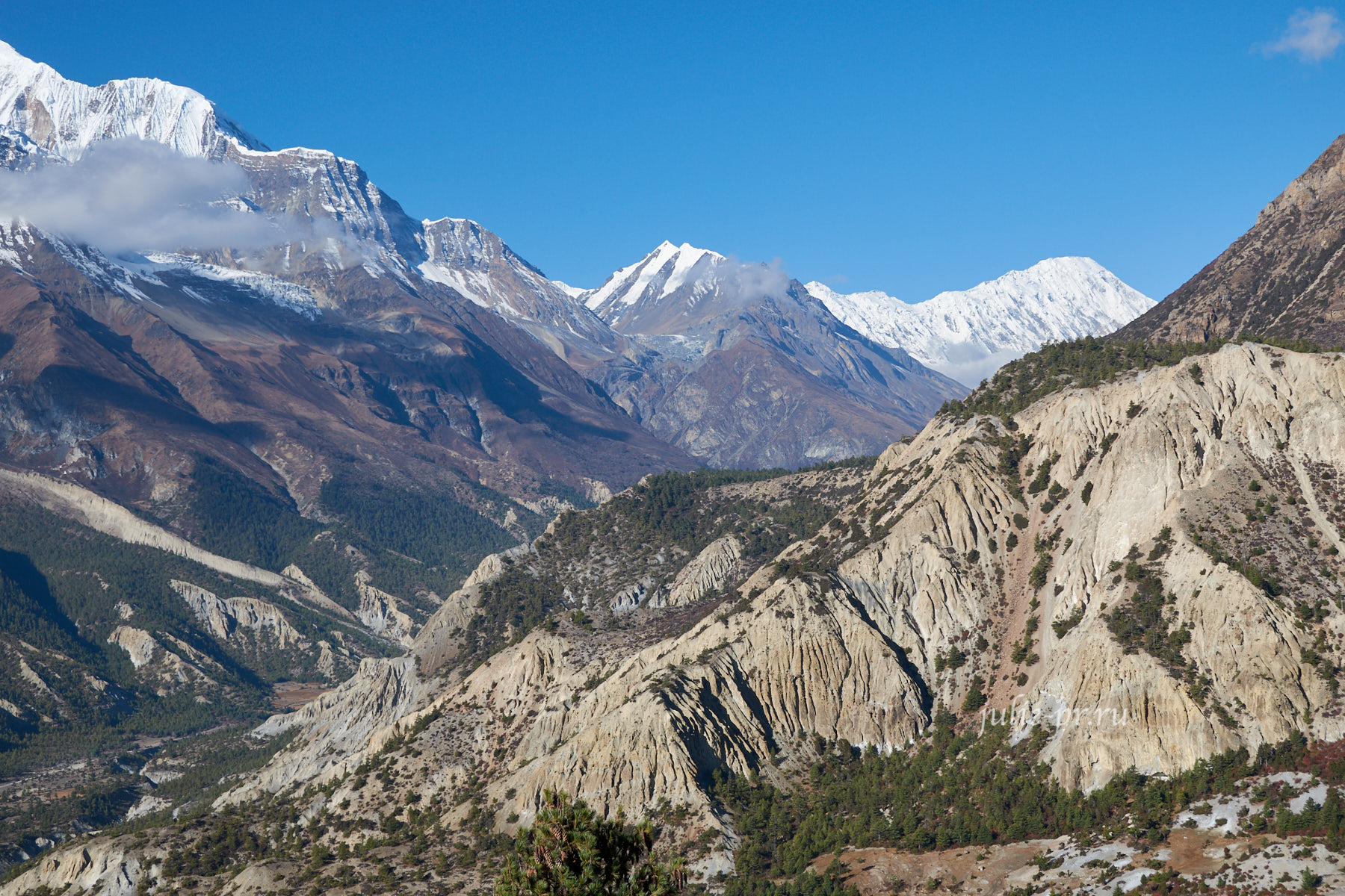 Непал, Трек вокруг Аннапурны, Скалы, Эрозия