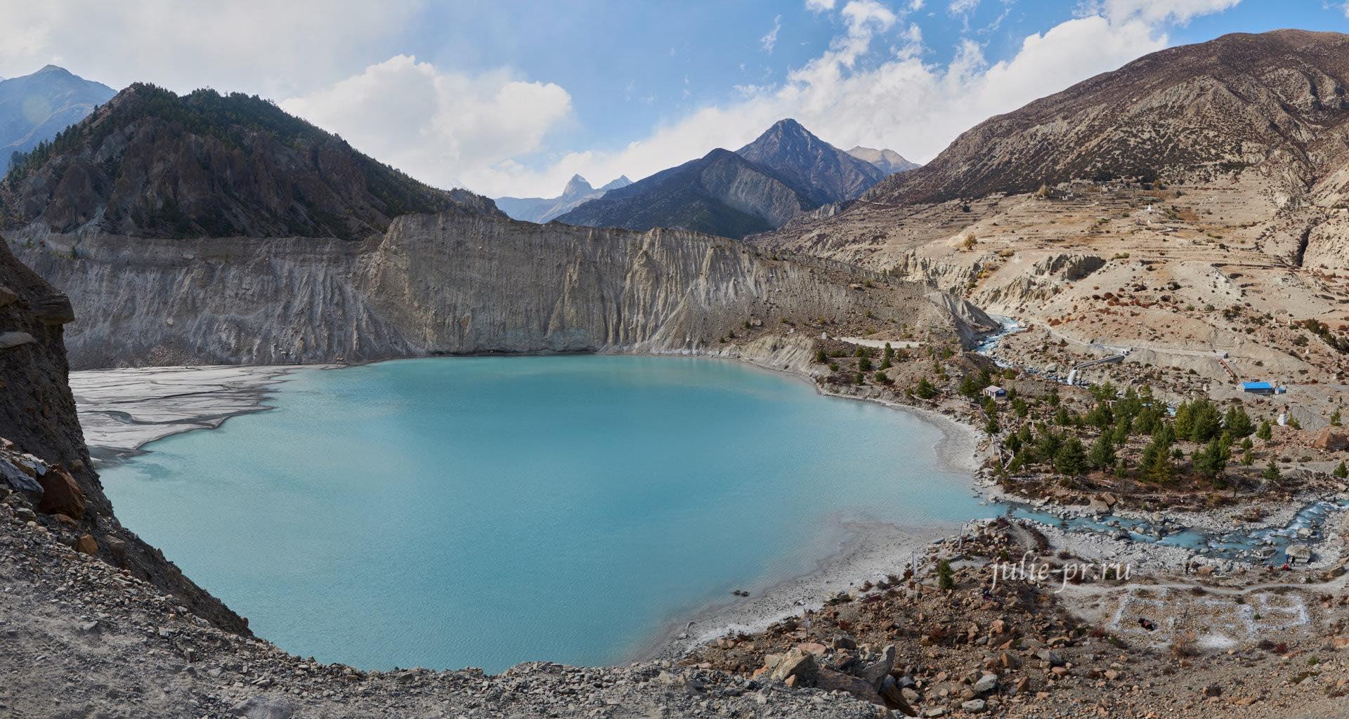Непал, Трек вокруг Аннапурны, Мананг, озеро