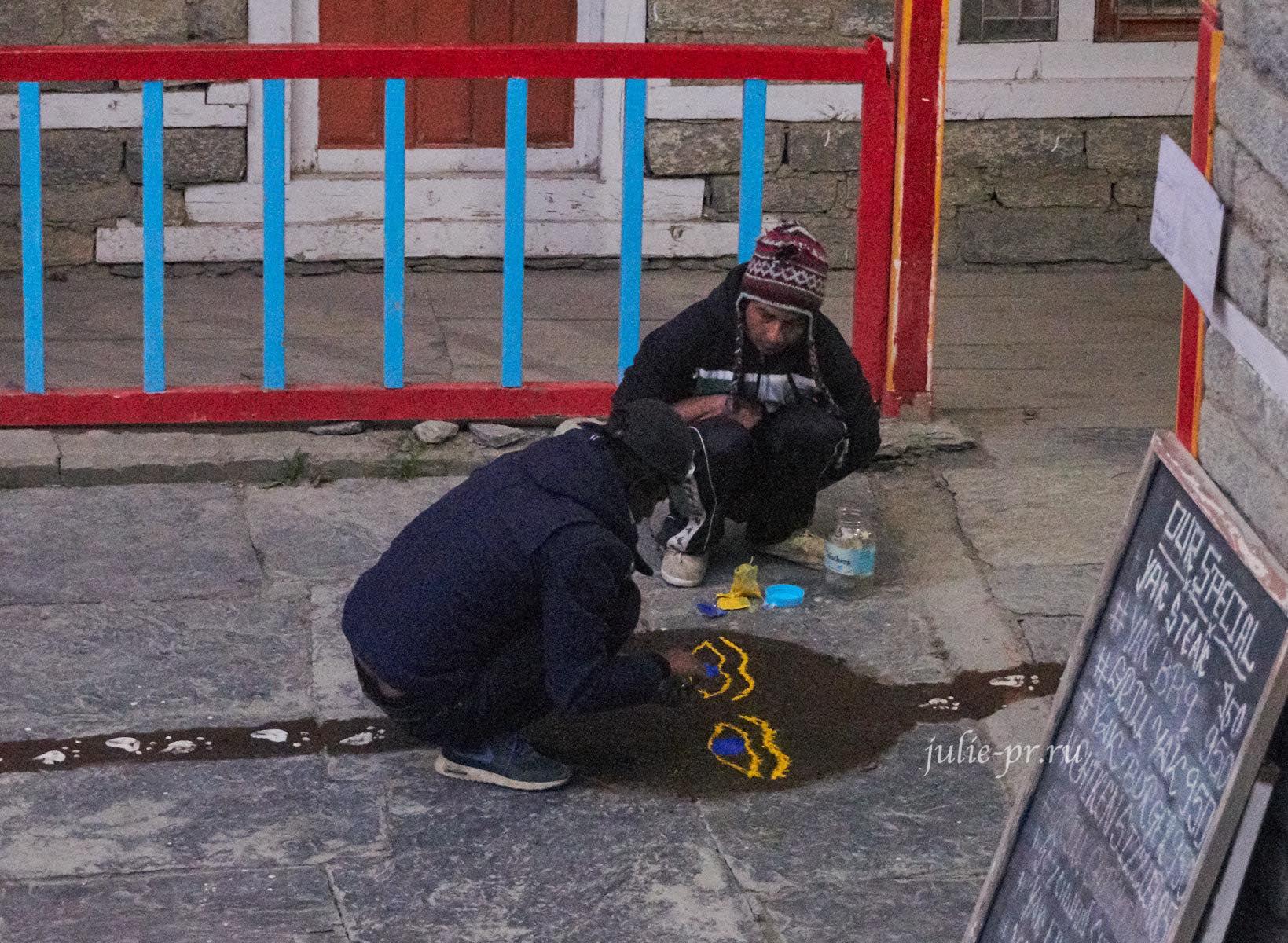 Непал, Аннапурна, Мананг, Люди, Праздник Тихар
