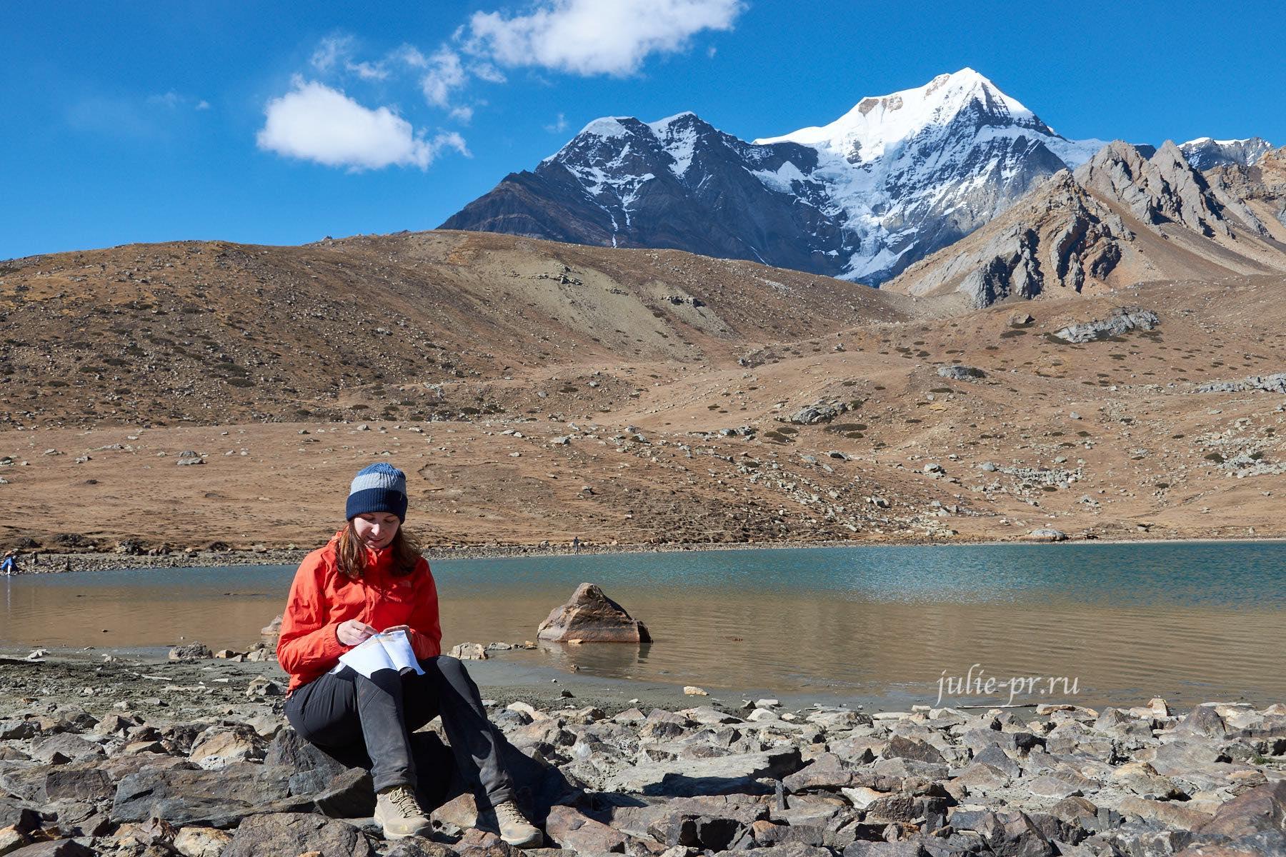 Непал, Трек вокруг Аннапурны, Ice Lake, Вышивка