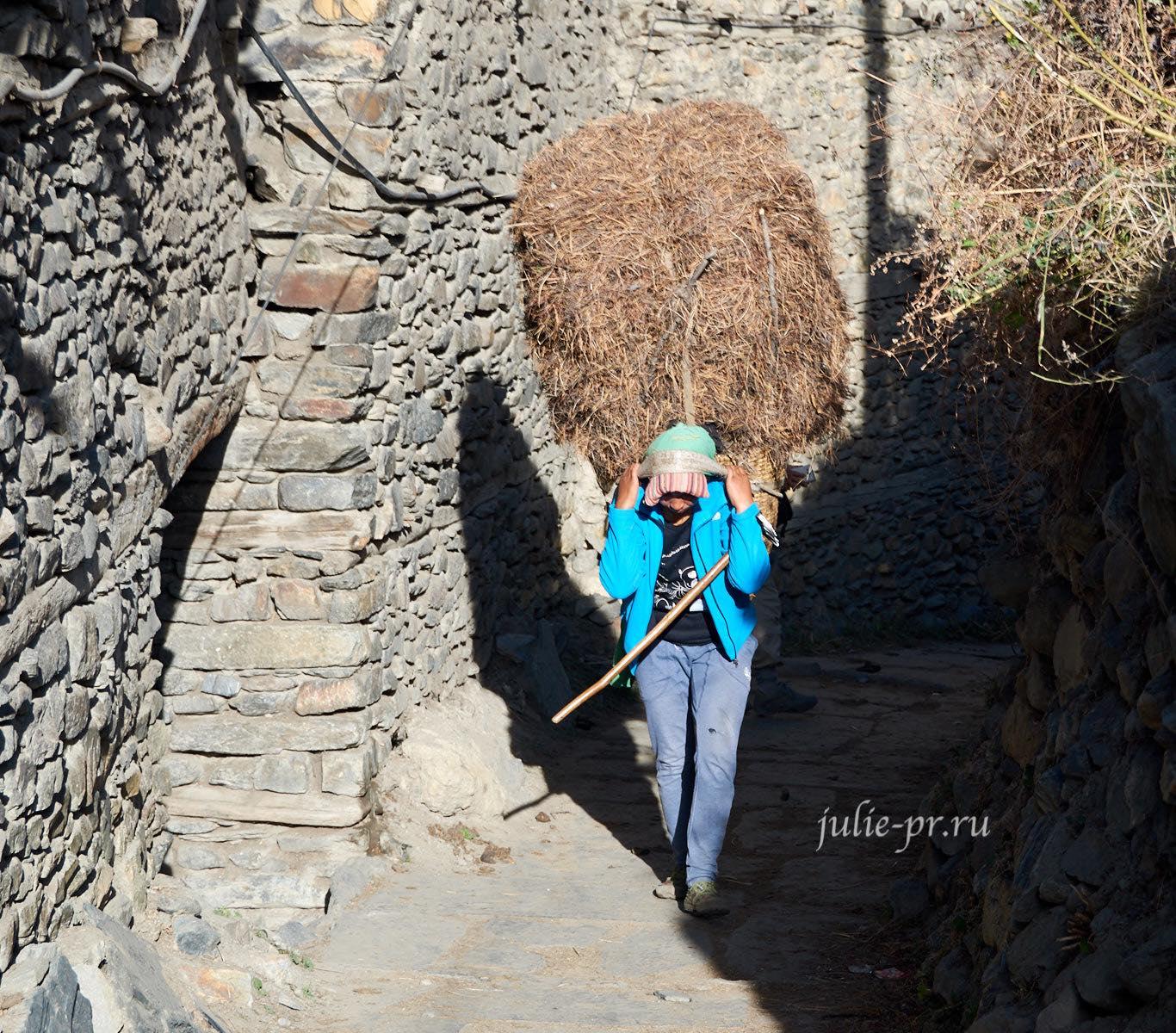 Деревня Мананг, крестьянин