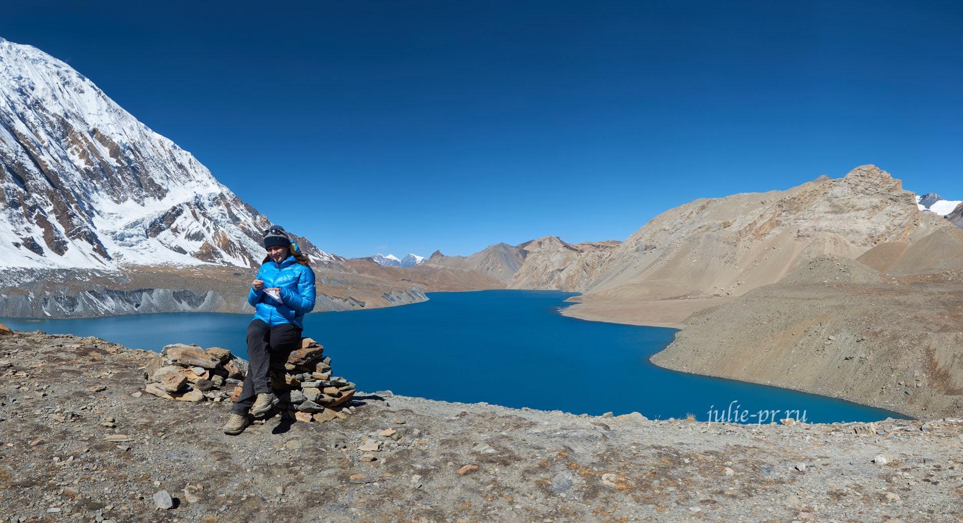Непал, Озеро и Пик Тиличо, вышивка