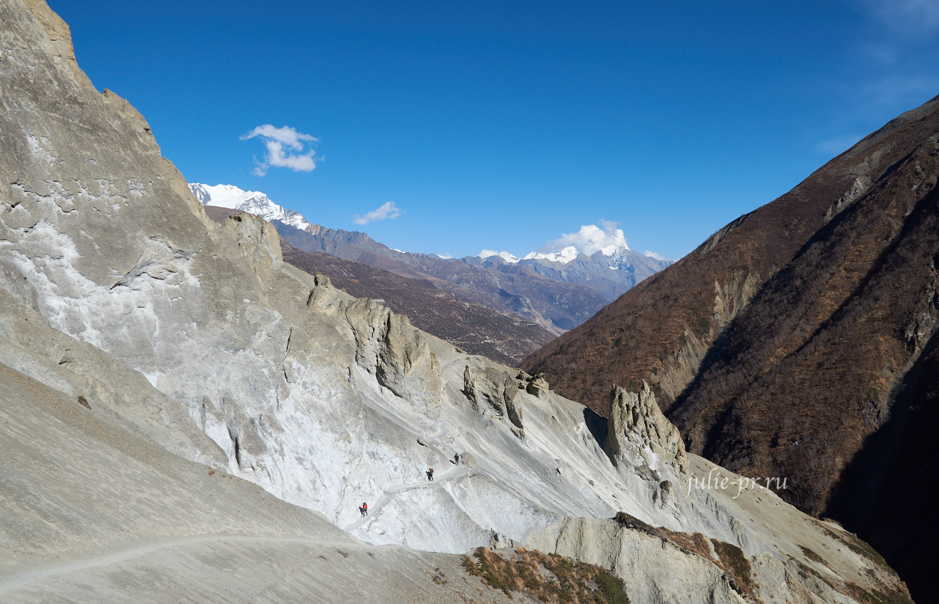 Непал, Тиличо, Осыпи