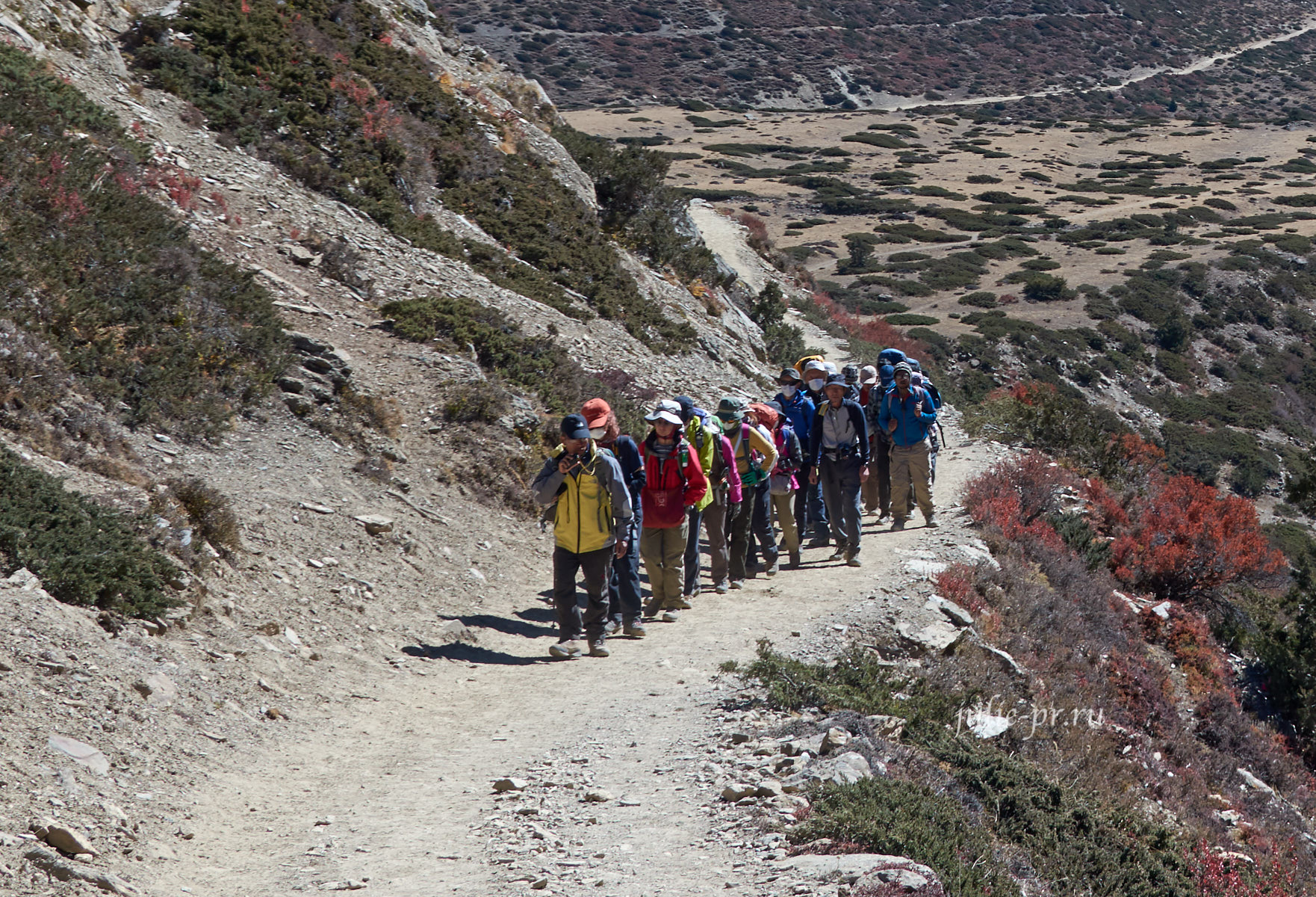Непал. Трек вокруг Аннапурны. Японские туристы