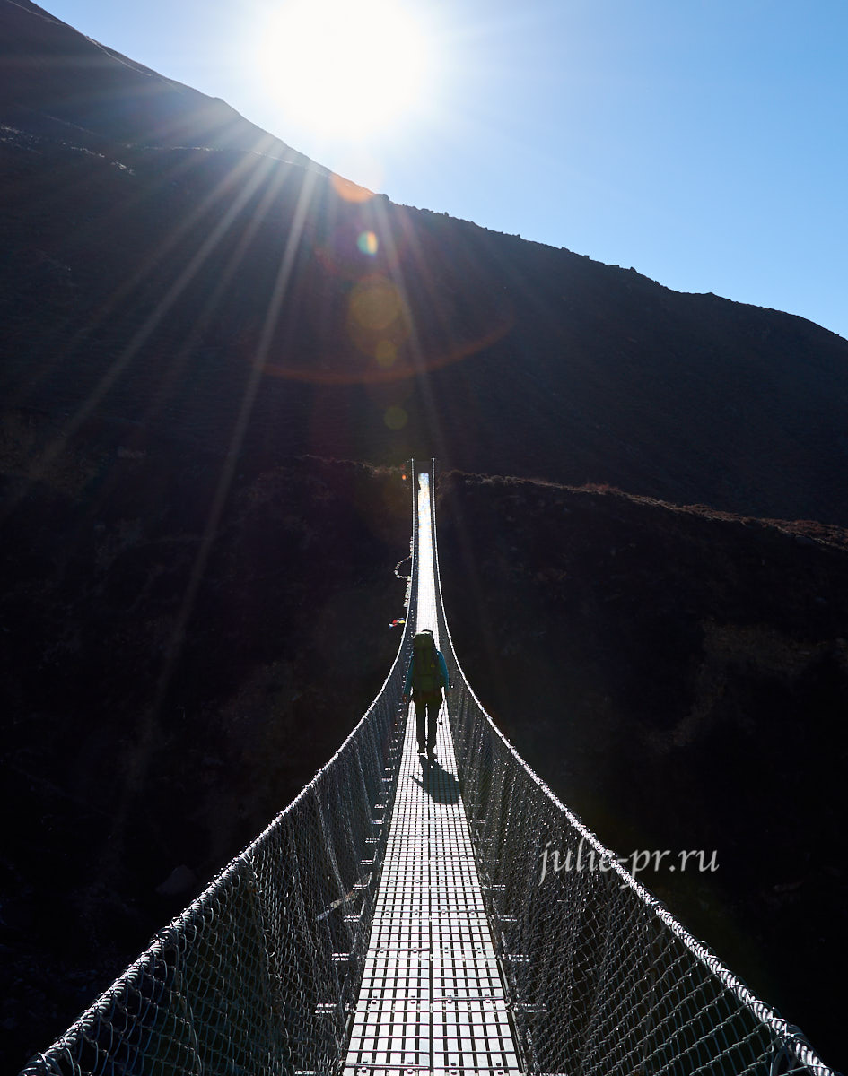 Непал, Муктинатх, висячий мост