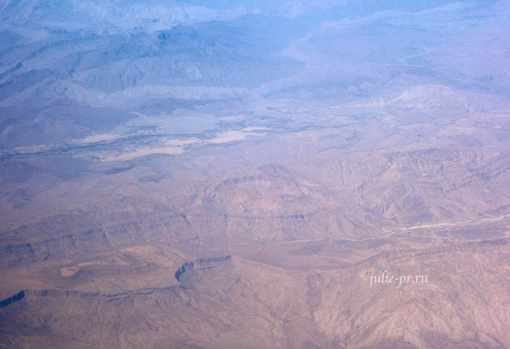 Пакистан, вид с самолёта
