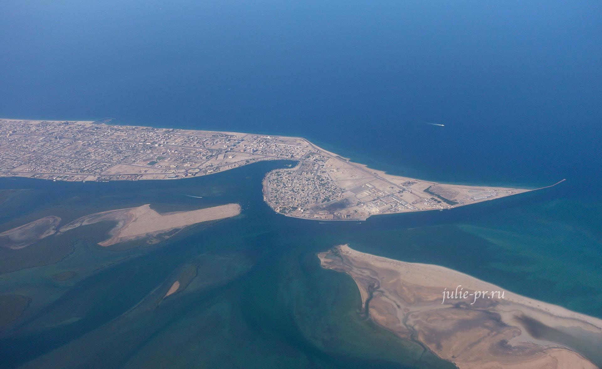 Персидский залив, вид с самолёта