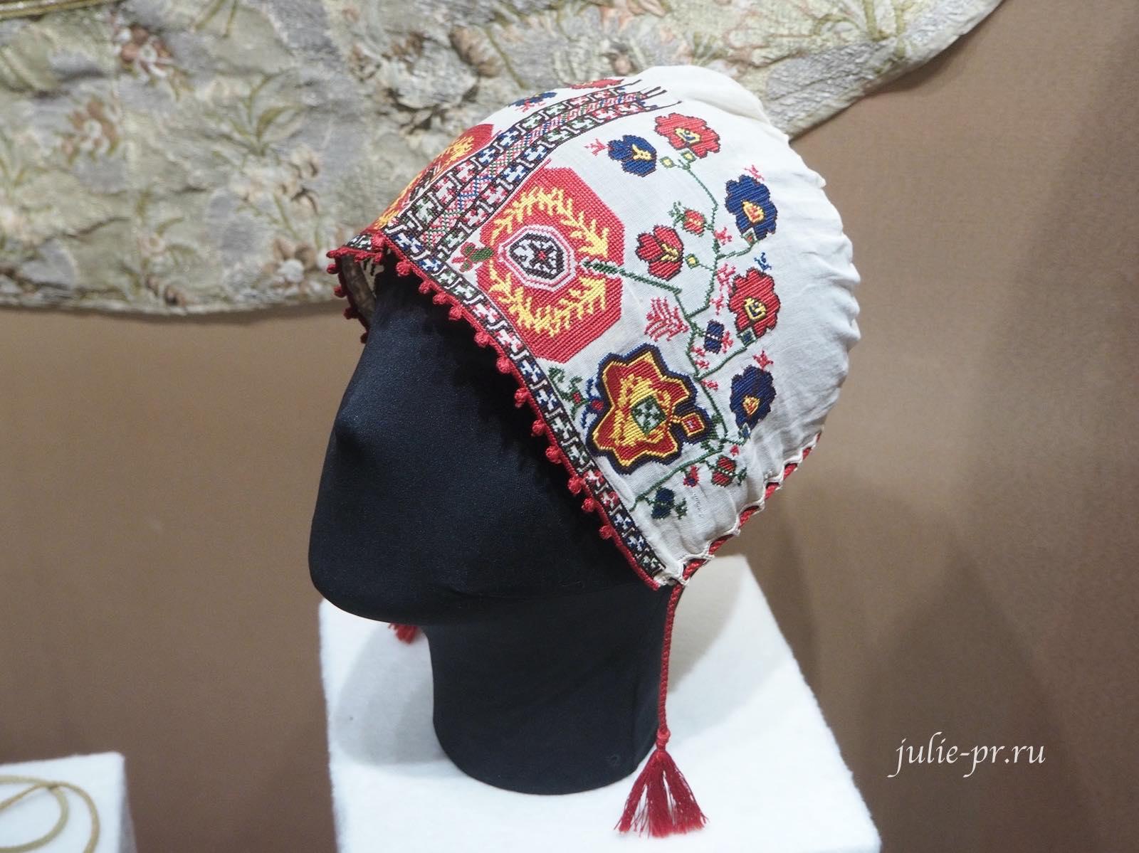 Чепец (Россия, конец XIX века): шёлковые нити, вышивка крестом