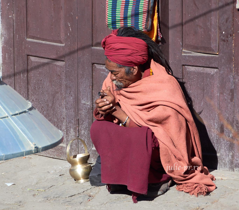 Непал, Муктинатх, Паломник