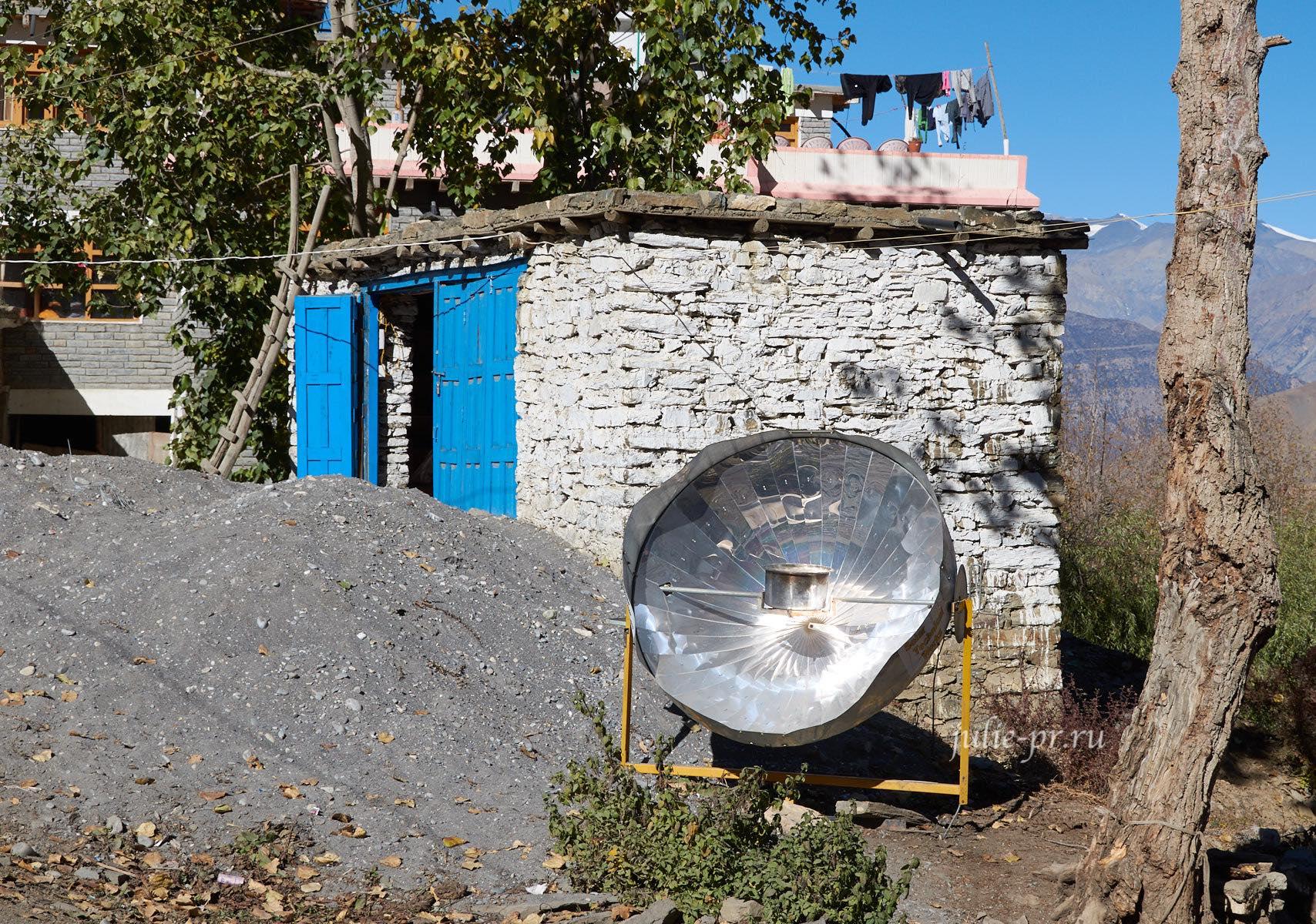 Непал, Ранипаува, Солнечная тарелка