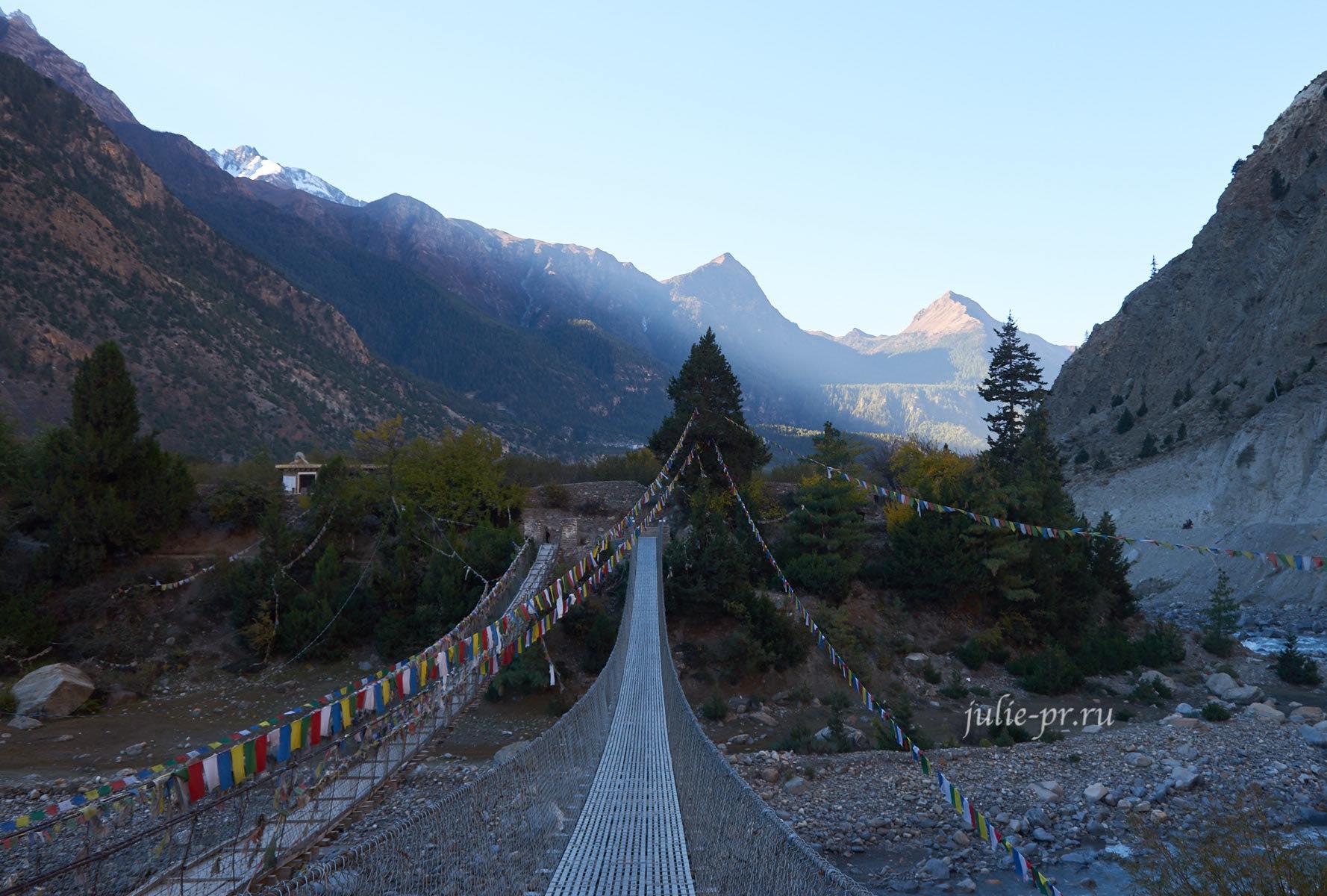 Непал, Трек вокруг Аннапурны, Мост через Кали-Гандаки
