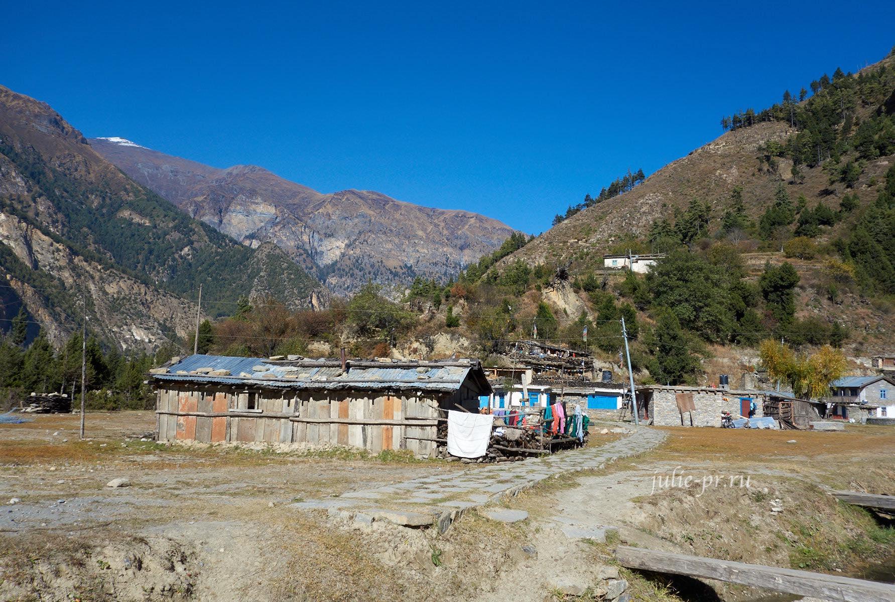 Непал, Трек вокруг Аннапурны, Деревня Сауру