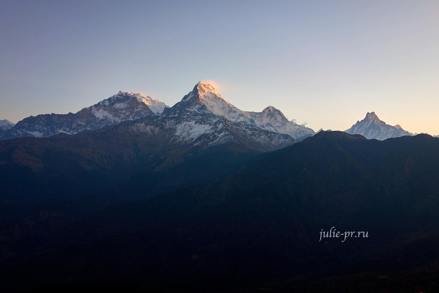 Непал, Пун-Хилл трек, Восход, Аннапурна