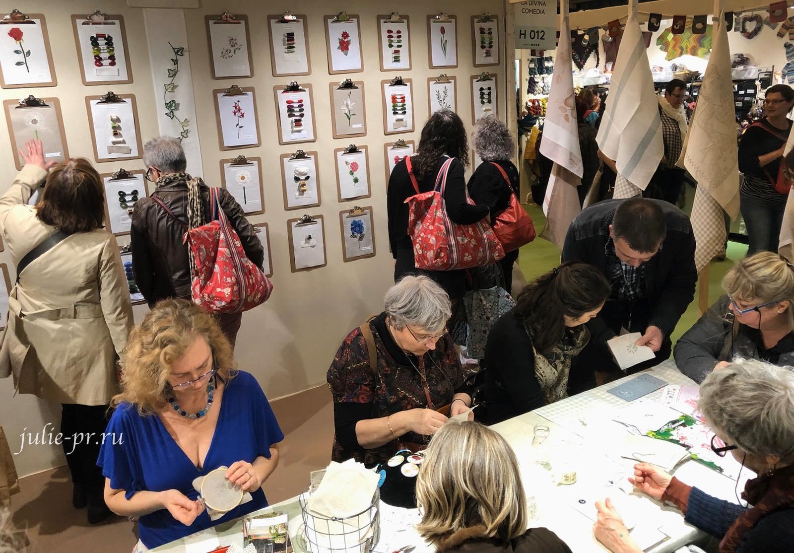 Au ver à soie, шелковые нитки, мастер-класс по вышивке