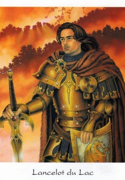 Ланселот, Zéphir d'Elph, Lancelot du Lac, Nimue, вышивка крестом