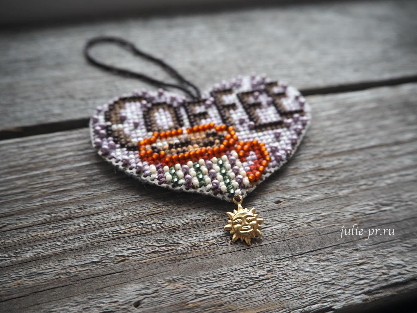 вышивка крестом, вышивка бисером, Mill Hill MH16-3102 Love Coffee, Любимый кофе, кофейное сердце