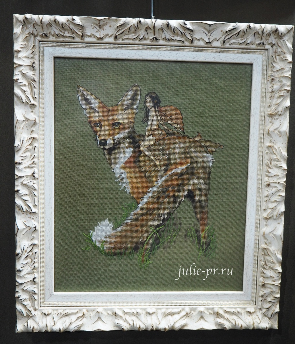 вышивка крестом, Nimue, Renard Le Roux, рыжий лис