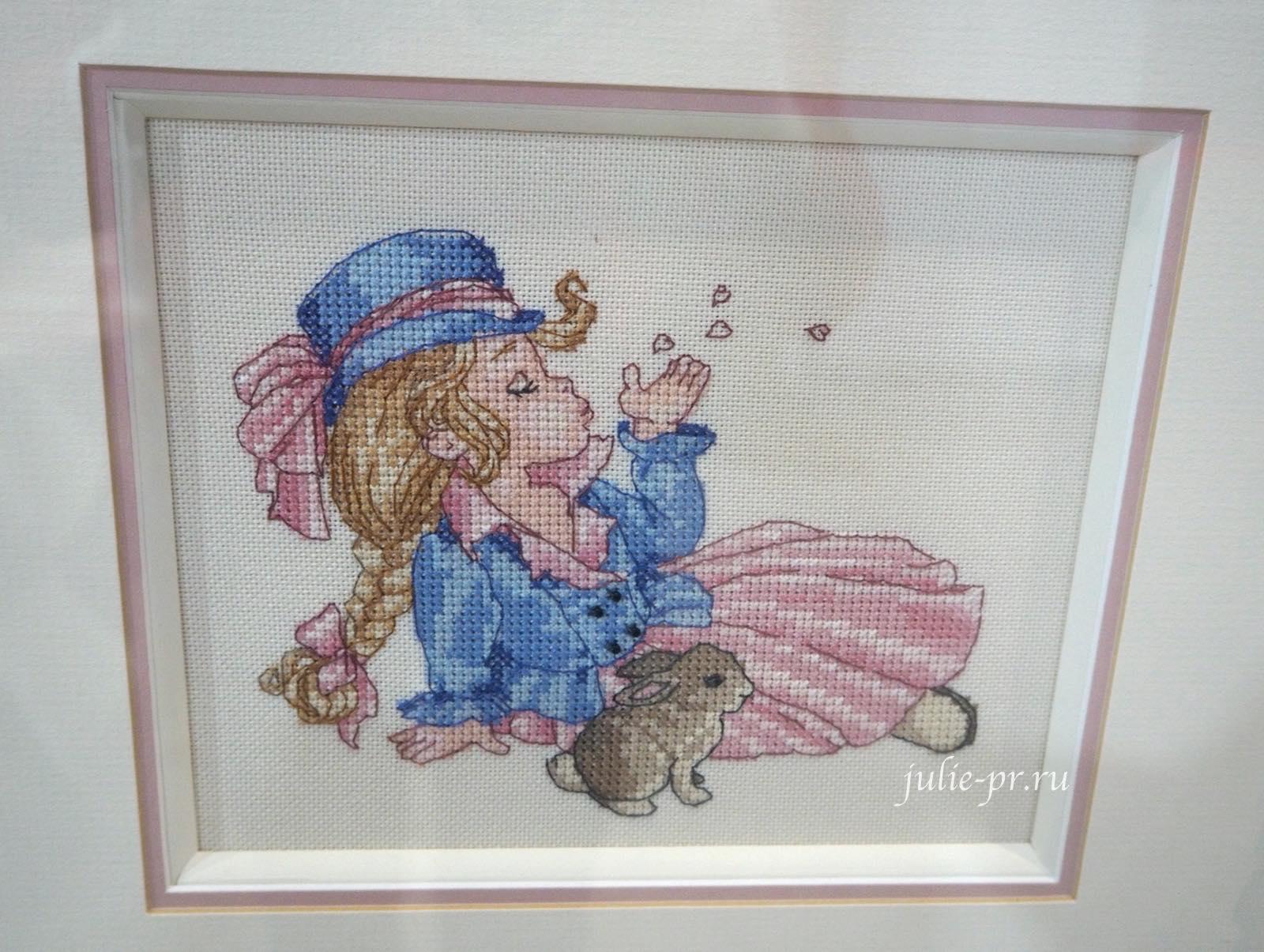 вышивка крестом, Nimue, Roz, девочка с кроликом